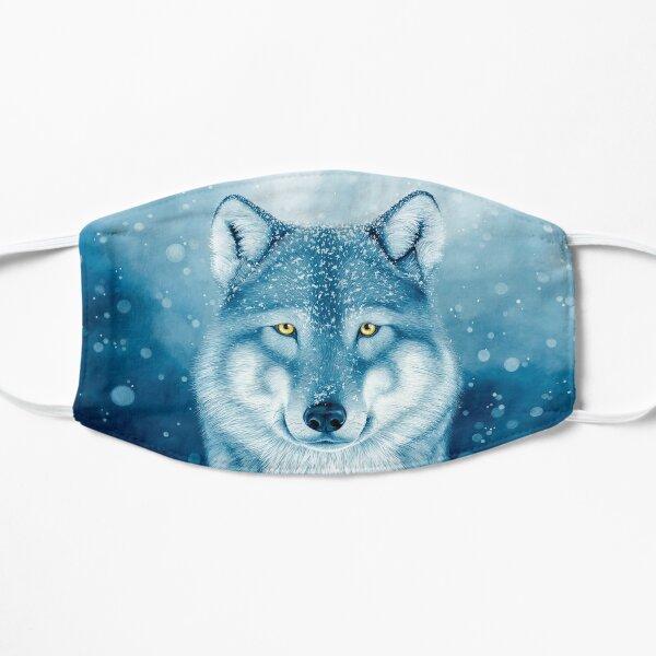 Loup bleu dans la neige Masque sans plis