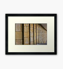 Colonnade Framed Print