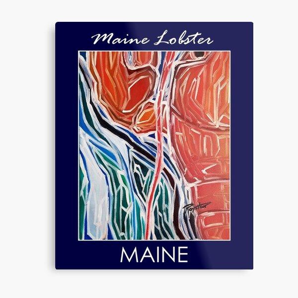 Maine Lobster w/border. Metal Print