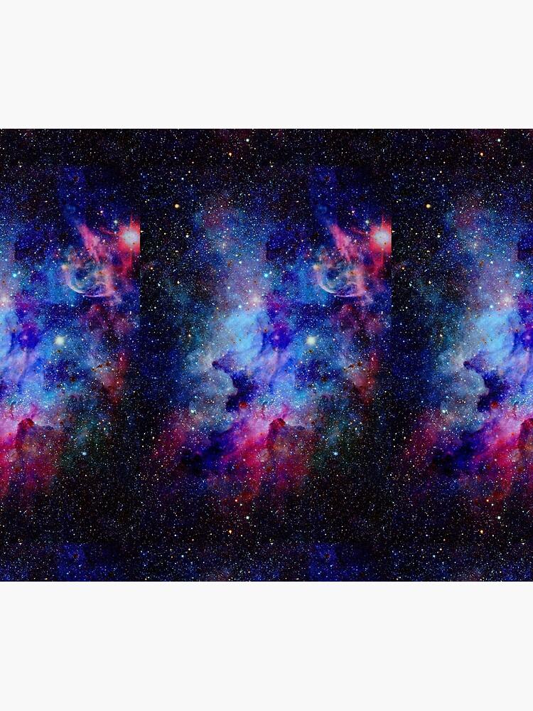 Blue Glitter Star Galaxy Artwork by newburyboutique