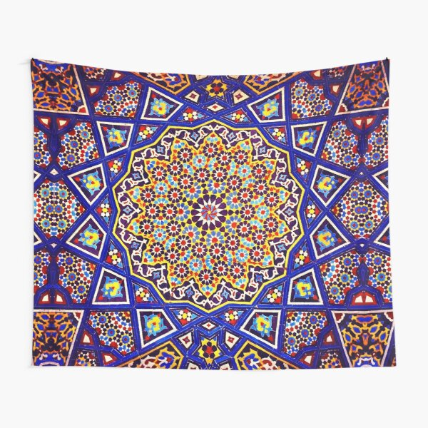 Geometric Traditional Moroccan Architecture Art. Tapestry