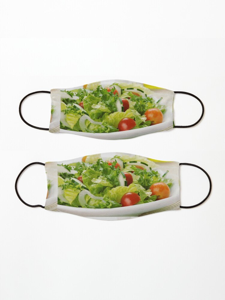 Alternate view of Kitchen decor, Salad socks, Salad pillow, Salad mask, Salad leggings  Mask