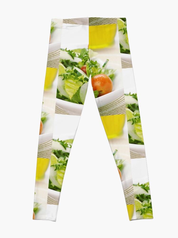 Alternate view of Kitchen decor, Salad socks, Salad pillow, Salad mask, Salad leggings  Leggings