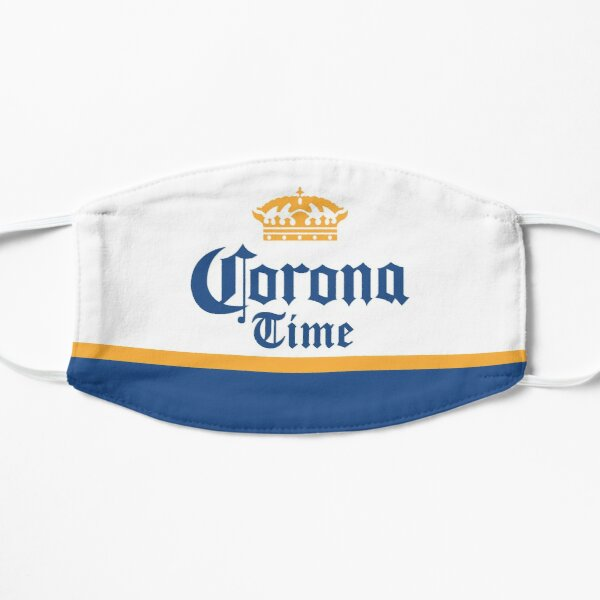Corona Time Beer Mask Flat Mask