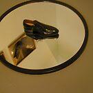 Shoe on Mirror by peterrobinsonjr