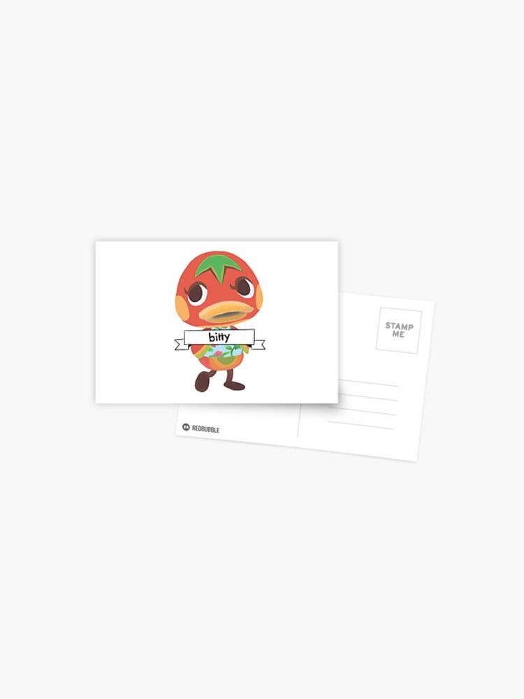 Postcard Ketchup Animal Crossing
