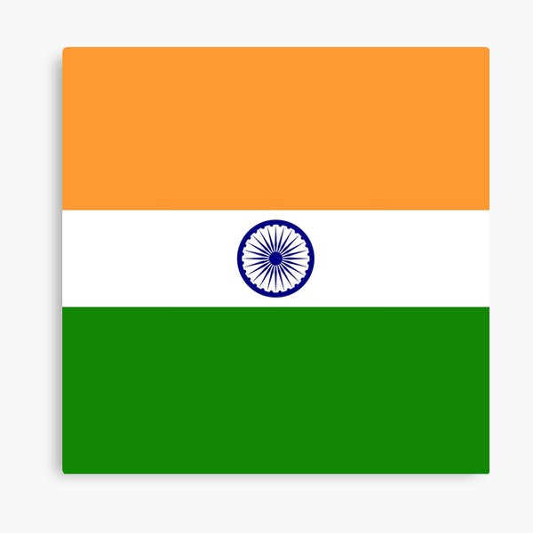 India Flag Canvas Print