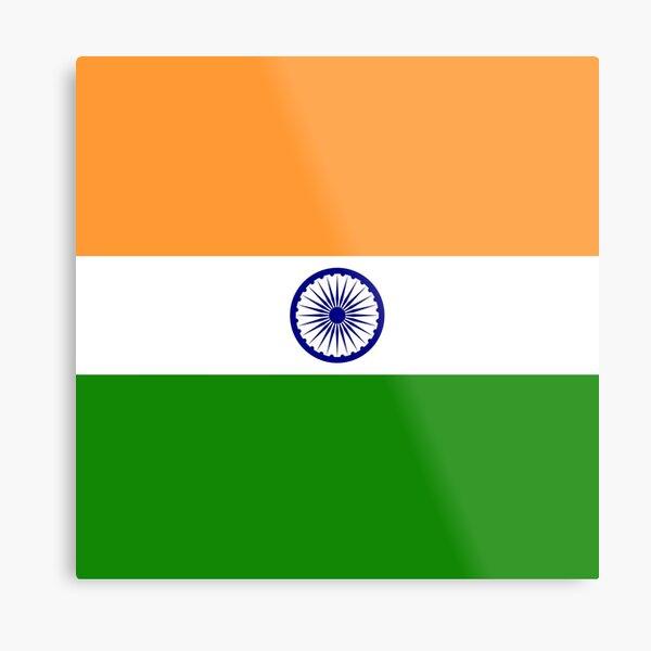 India Flag Metal Print