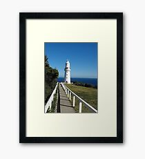 The Eye of the Needle. (Cape Otway Lighthouse) Framed Print