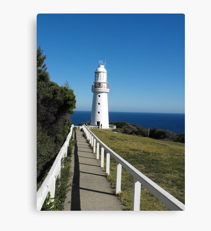 The Eye of the Needle. (Cape Otway Lighthouse) Canvas Print