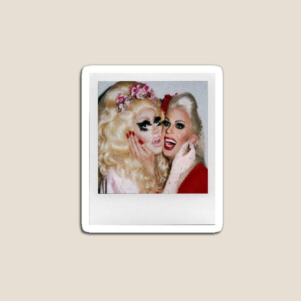Trixie and Katya Polaroid Sticker & Pin Magnet
