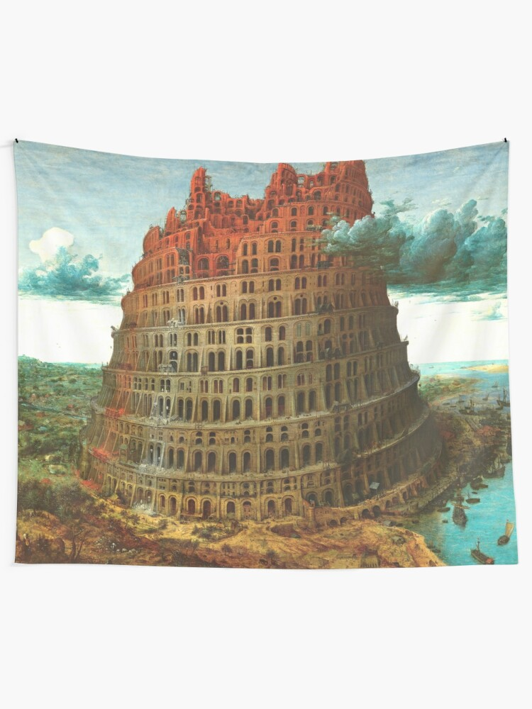 Pieter Bruegel The Elder The Tower Of Babel Rotterdam Tapestry By Ald1 Redbubble