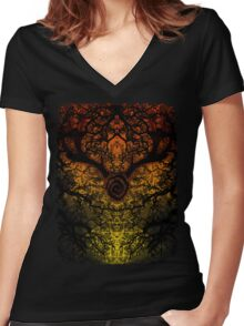 Journey to Carcosa  Women's Fitted V-Neck T-Shirt