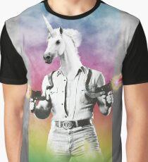 Badass Unicorn Graphic T-Shirt