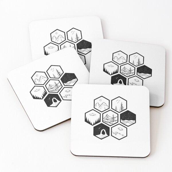Honeycomb Coasters (Set of 4)