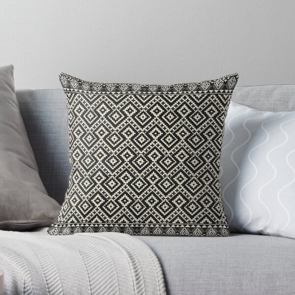 Farmhouse & Rustic Style Oriental Traditional Moroccan Design. Throw Pillow