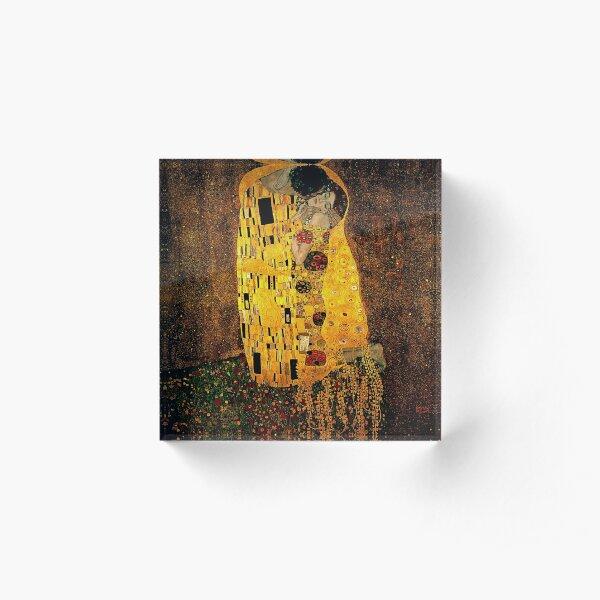 Gustav Klimt The Kiss Acrylic Block