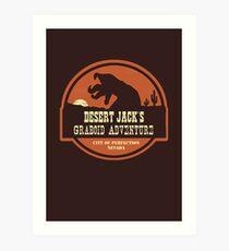 Desert Jack's Graboid Adventure logo Art Print