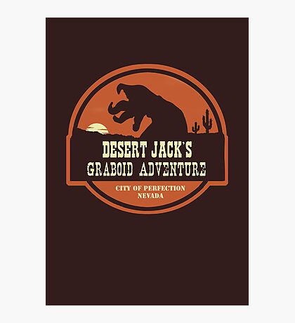 Desert Jack's Graboid Adventure logo Photographic Print