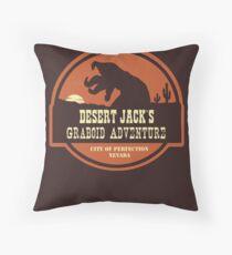 Desert Jack's Graboid Adventure logo Throw Pillow