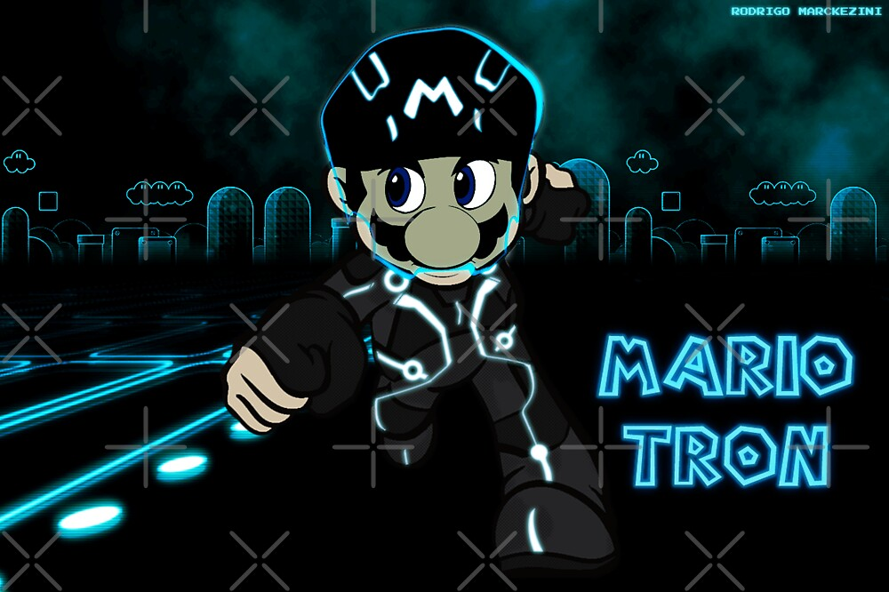 Mario Tron (Print Version) by Rodrigo Marckezini