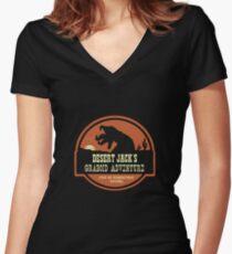 Desert Jack's Graboid Adventure logo Women's Fitted V-Neck T-Shirt