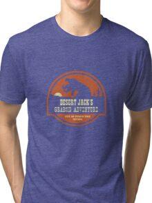 Desert Jack's Graboid Adventure logo Tri-blend T-Shirt