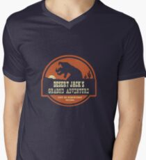 Desert Jack's Graboid Adventure logo Men's V-Neck T-Shirt