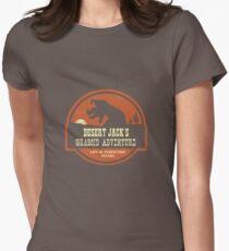 Desert Jack's Graboid Adventure logo Women's Fitted T-Shirt