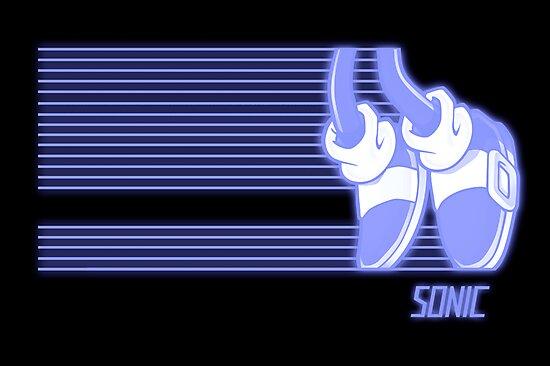 Sonic Moonwalker (Print Version) by Rodrigo Marckezini