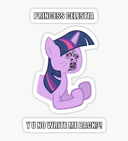 Twilight Sparkle Y U NO Sticker
