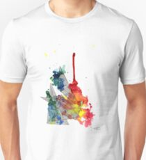 Watercolour and Fine Liner Triangles T-Shirt