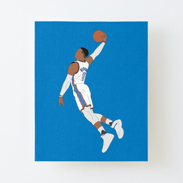 Russell Westbrook Dunk Canvas Mounted Print