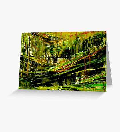 deep valley forest.... wall sketches Greeting Card