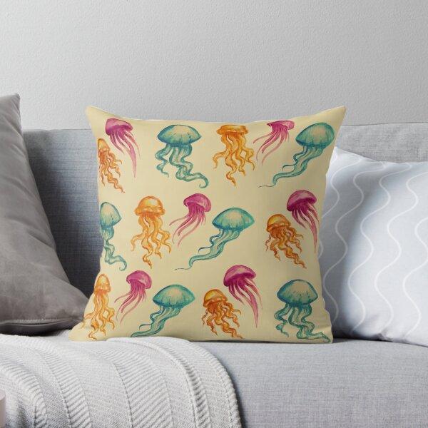Vintage JellyFish Throw Pillow