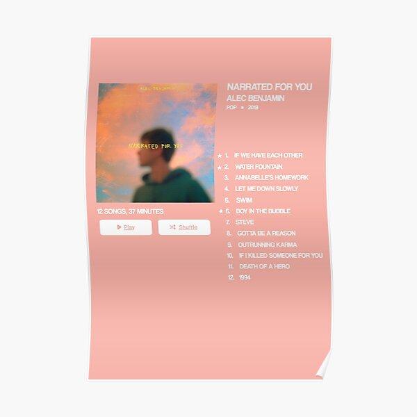 Narrated for you - Alec Benjamin - Album Poster