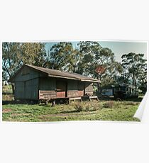 Old Huon Goods shed and VR Rail motor 19830603 0022  Poster