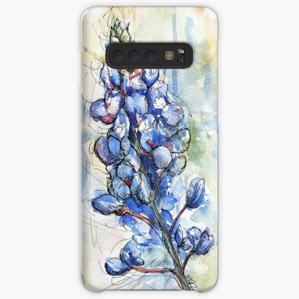 Texas Bluebonnet Wildflower Watercolor by Ela Steel Samsung Galaxy Snap Case