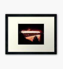 Fireworks - 75th Anniversary of the Golden Gate Bridge Framed Print