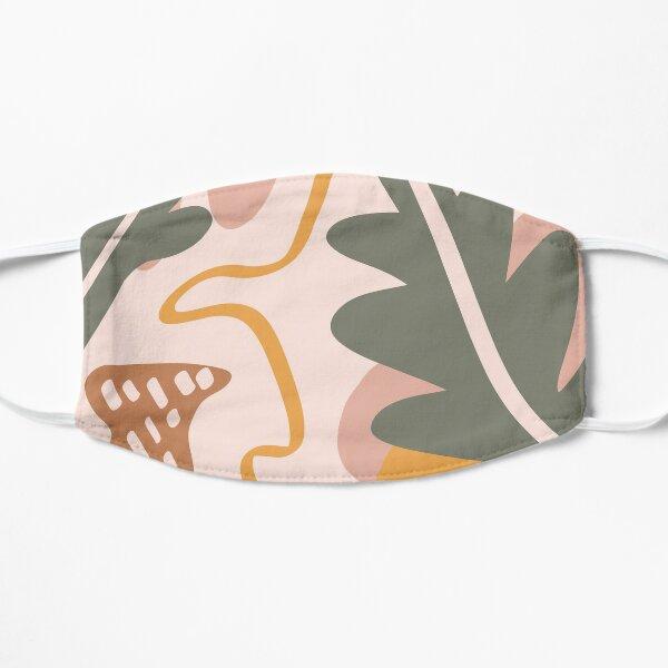Warm tones abstract plant print Flat Mask