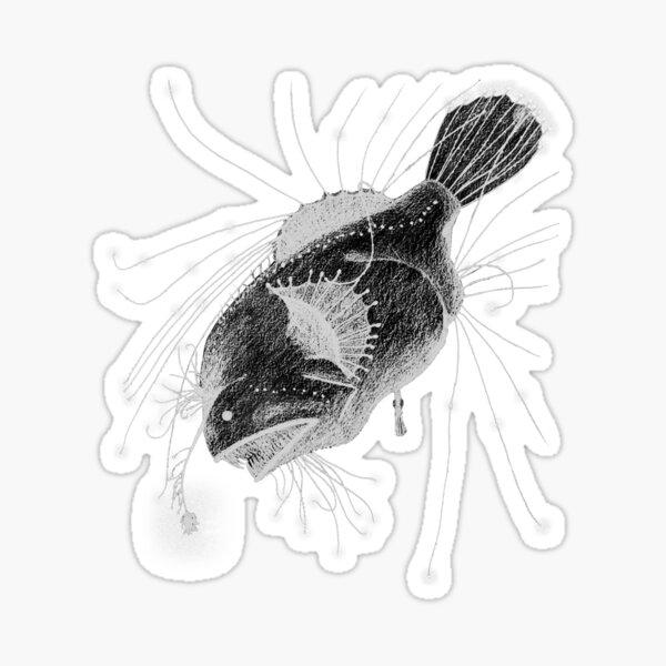 Fanfin Seadevil - Deep Sea Creatures Collection Sticker