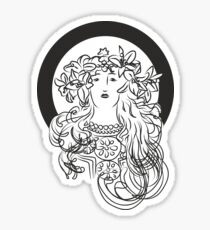 Alphonse Mucha Inspiration Sticker