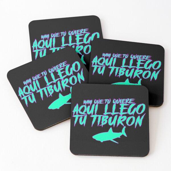 Mami Que Tu Quiere Aqui Llego Tu Tiburon Coasters (Set of 4)