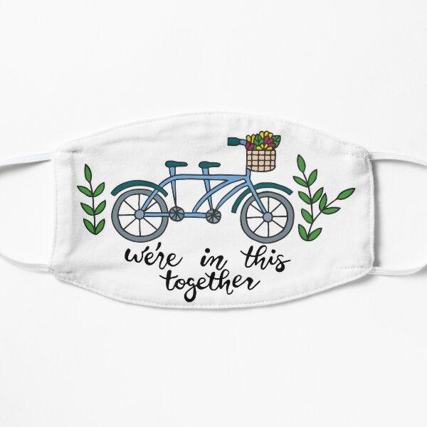 Nous sommes ensemble dans ce vélo tandem    Travail d'équipe    Vélo    Caractères Masque sans plis