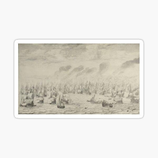 The Battle of Terheide, Willem van de Velde (I), 1657 Sticker