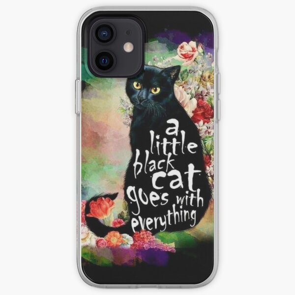 A little black cat goes with everything  iPhone Soft Case