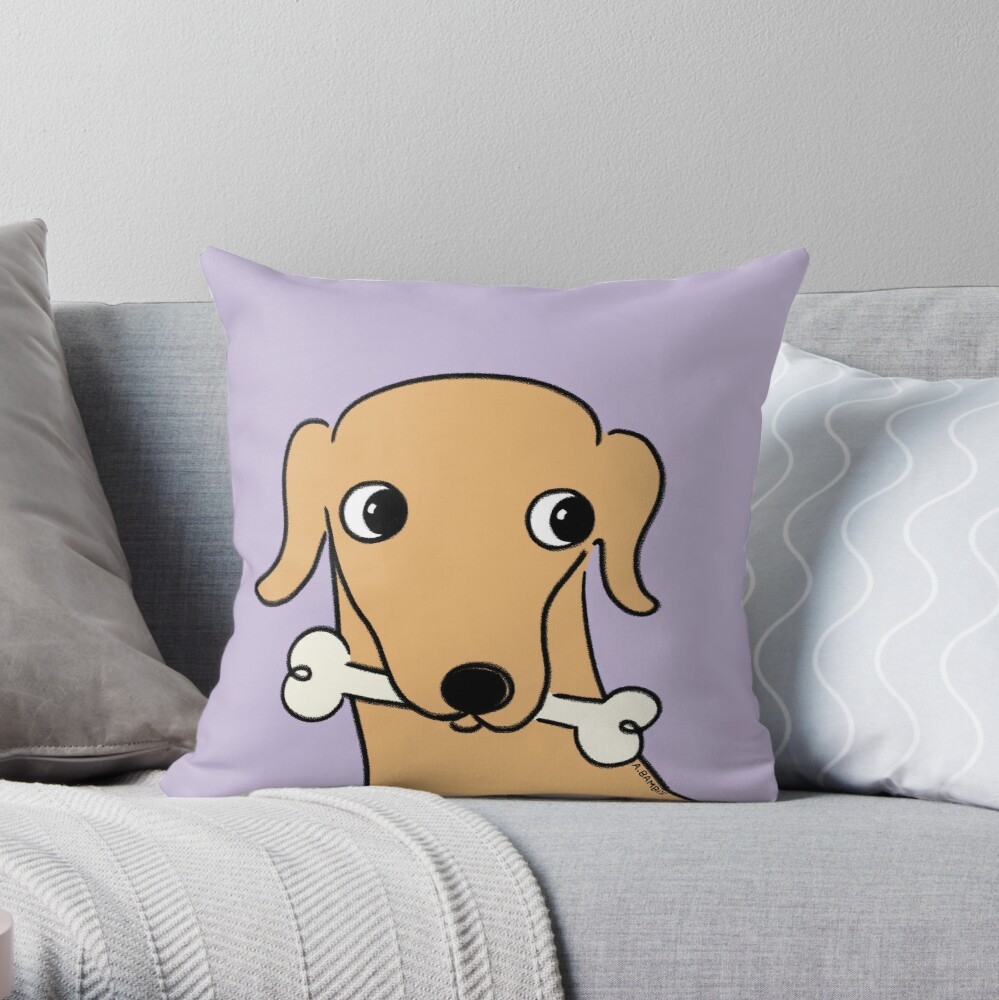 Devo Tippet The Whippet  Throw Pillow