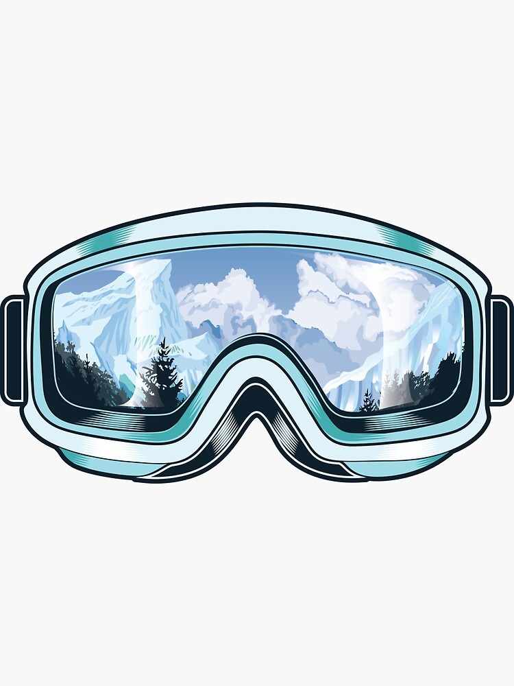 Skis goggles with nature reflections by artrix28