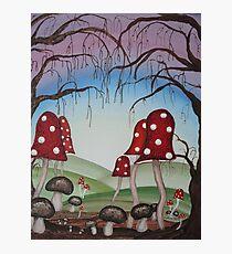 Mystical Mushrooms Photographic Print