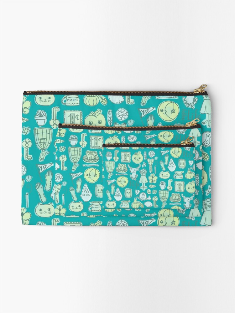 Alternate view of Yay! Happy Life  Zipper Pouch